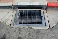 No Dumping Drains to Bay Sign Royalty Free Stock Photography