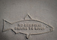 No Dumping Drains To River Royalty Free Stock Photo