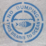 No Dumping Ocean Pollution Sign Royalty Free Stock Image