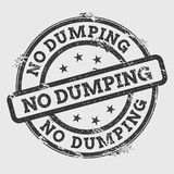 No dumping rubber stamp isolated on white. stock illustration