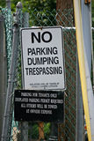 No Dumping Sign Royalty Free Stock Images