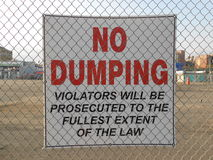 No Dumping Sign on Coney Island. Stock Photography