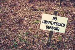 No Dumping Sign. Sign With Copy Space Saying No Dumping Stock Images