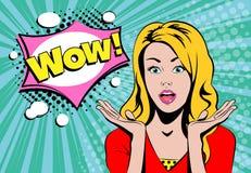No! no! dziewczyny blond twarz z mowa bąblem royalty ilustracja