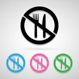 No eat icon great for any use. Vector EPS10. Royalty Free Stock Images
