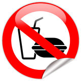 No eating and drinking sign Stock Photography