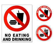 No eating and drinking Royalty Free Stock Images