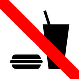 No eating icon great for any use. Vector EPS10. Stock Photography