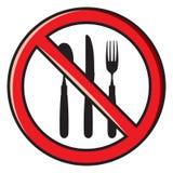 No eating, no food allowed Stock Photos