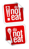 No eating sign. Royalty Free Stock Photos