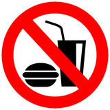No eating vector sign stock illustration