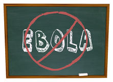 No Ebola Word Chalkboard Stop Cure Virus Disease Royalty Free Stock Images