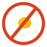 No eggs sign. No eggs illustration on white background Royalty Free Stock Photo