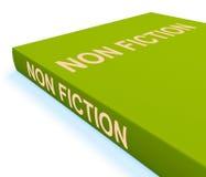 No el libro de la ficción muestra el texto o hechos educativos stock de ilustración
