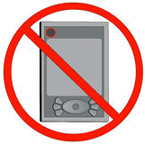 No electronic devices allowed Royalty Free Stock Image
