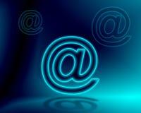 No email do sinal Fotografia de Stock