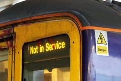 No en tren del servicio Imagenes de archivo
