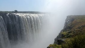 No end to the might and beauty of the Falls of Africa Royalty Free Stock Images