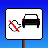 No Engine Idling Sign Stock Image