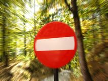 No enter danger stop very close Royalty Free Stock Photos