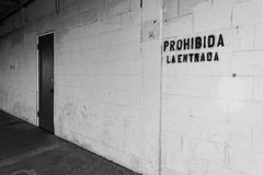 No Entrada. Back entrance to warehouse in Portland Oregon Royalty Free Stock Image