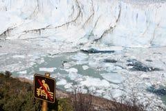 No entrance - Perito Moreno Glacier Royalty Free Stock Image