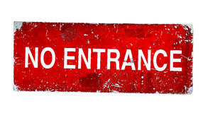 No Entrance plate Stock Photography