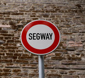 No entrance for seagway sign Stock Photography
