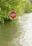 No entre firman adentro el agua Fotografía de archivo