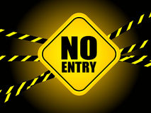 No entry. Sign isolated on black Stock Image