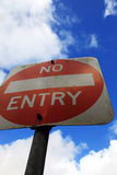 No entry Royalty Free Stock Image