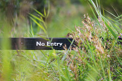 No Entry. A no entry sign in nature Royalty Free Stock Photography