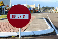 No Entry. Into the Town of Foxton this way Stock Images
