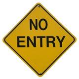 No Entry. Sign royalty free stock photos