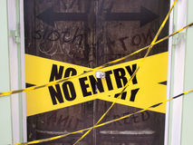 No entry. Sign on the door Vector Illustration