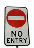 No Entry. A No Entry sign isolated on white stock image
