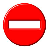 No entry 3d sign Royalty Free Stock Images
