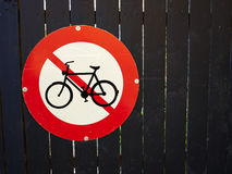 No entry access for bicycles Royalty Free Stock Images