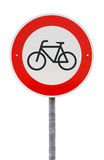 No entry for bicycles traffic sign Royalty Free Stock Image