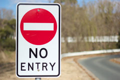 No Entry Board. A No Entry road sign Stock Image