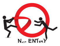 No entry - breaking in Stock Photo