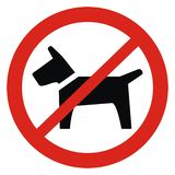 No entry with dogs, vector icon