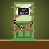 No entry door Stock Photos