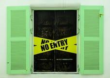 No entry door. The sign No entry door Stock Photography