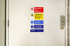 No Entry Door Sign Royalty Free Stock Photography