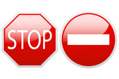 No entry end stop. Royalty Free Stock Photo