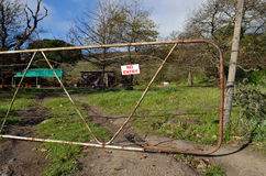 No entry gate Royalty Free Stock Photo
