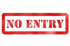 No entry. Grunge stamp sign on white royalty free stock images