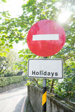 No entry in Holidays Stock Photos