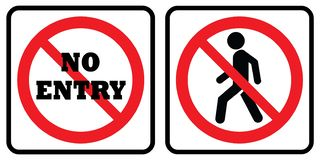 No Entry icon Collection vector illustration